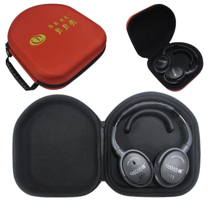lt-138 红色 EVA耳机包使用效果图