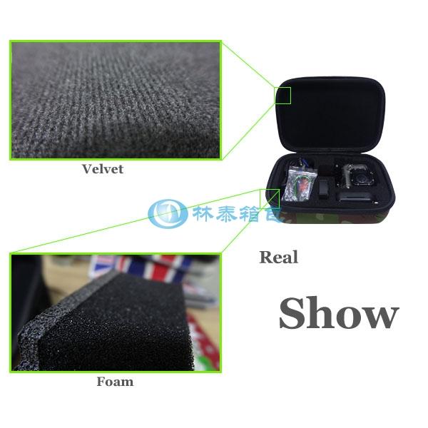 (非标准小号)迷彩 EVA相机包内部材料图